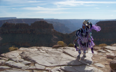Native American Dancer at the Rim