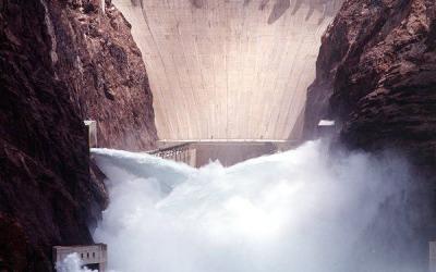 Hoover Dam Jet Flow